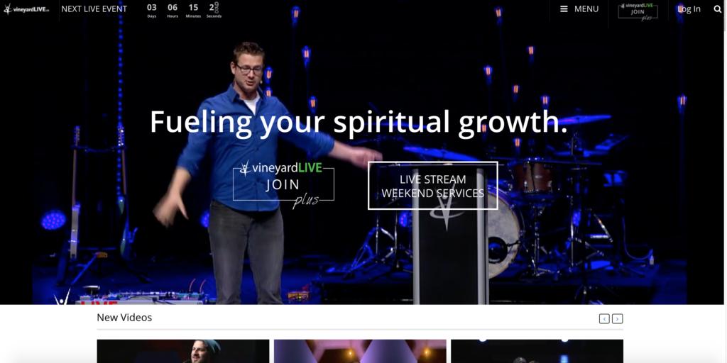 Membership Website Design, Live Stream Design